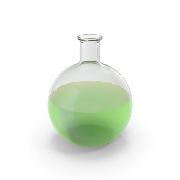 Алхимическая колба большая зеленая
