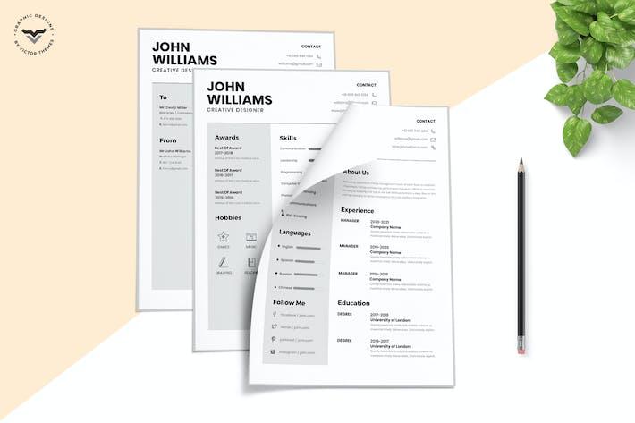 Thumbnail for Minimal CV Template
