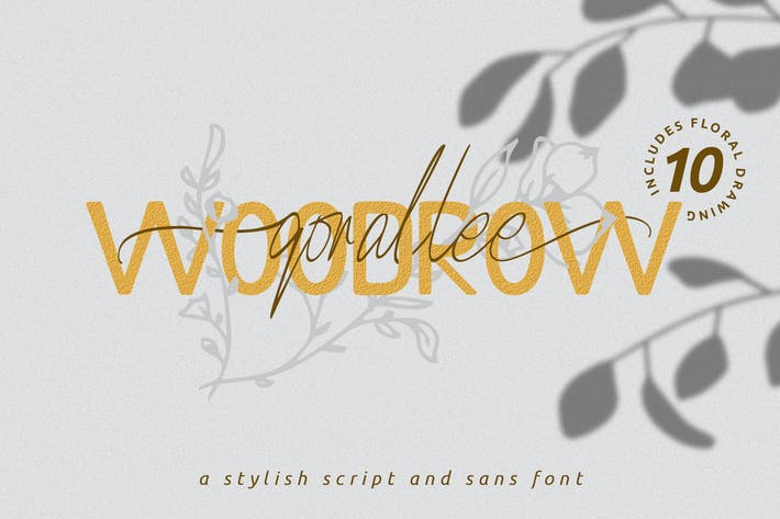 Thumbnail for Qorallee Woodrow Font Duo + Bonus