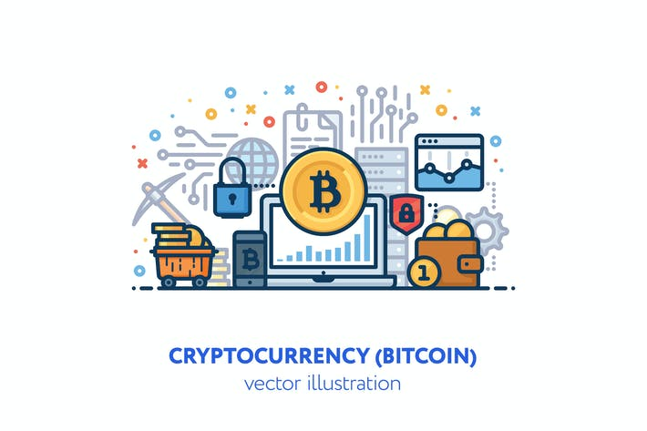 Thumbnail for Bitcoin vector illustration