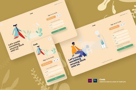 Coob - Creative Sign in & Sign Up template