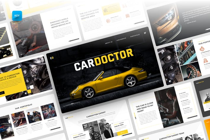 Thumbnail for Cardoctor-Car Service Keynote Template
