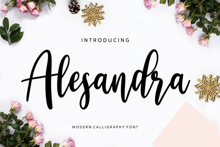 Thumbnail for Alesandra Modern Calligraphy