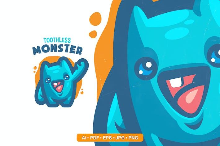 Thumbnail for Logo Mascotte Monstre Mignon