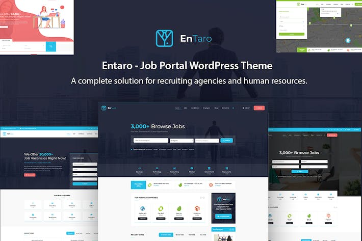 Thumbnail for Entaro - Job Portal WordPress Theme