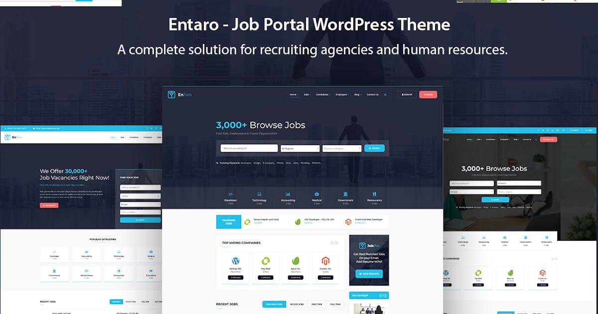 Download Entaro - Job Portal WordPress Theme by ApusTheme