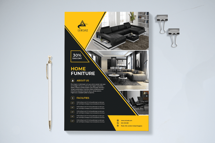 Thumbnail for Modern Interior Flyer Template