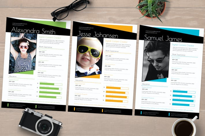 InDesign Resume Template CV (Choose a Color)