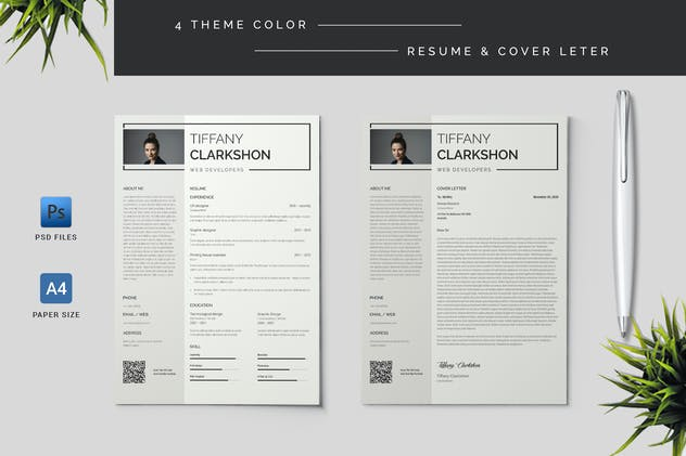 Resume & Cover Letter Template - product preview 0