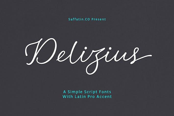Thumbnail for Delizius Script Latin Pro