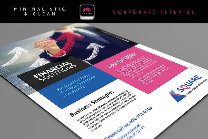Thumbnail for Clean Corporate Flyer Template 01