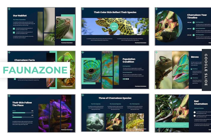 Thumbnail for Faunazone - Google Slide Template