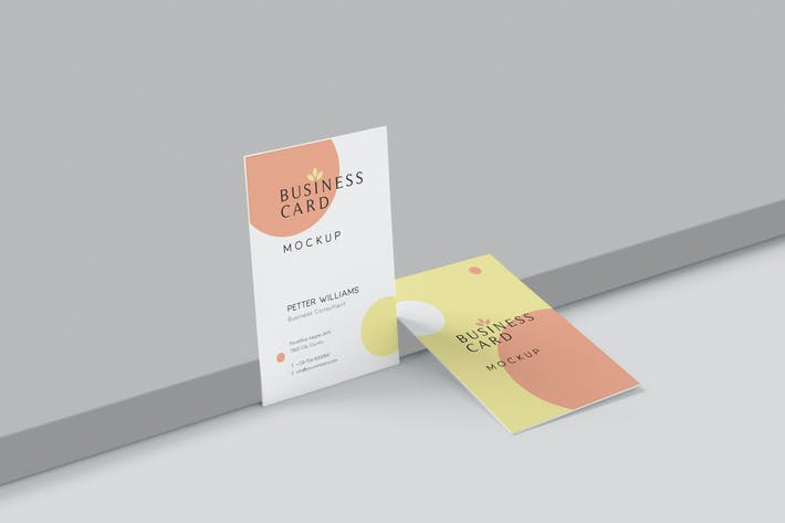 Thumbnail for Portrait Business Card Mockups