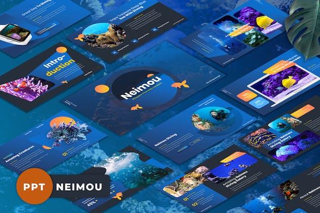 Neimou - Diving Sport Powerpoint Templates