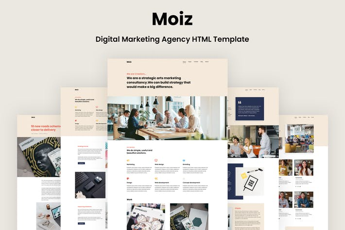 Thumbnail for Moiz - Digital Marketing Agency HTML Template