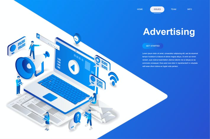 Thumbnail for Advertising and Promo Isometric Concept