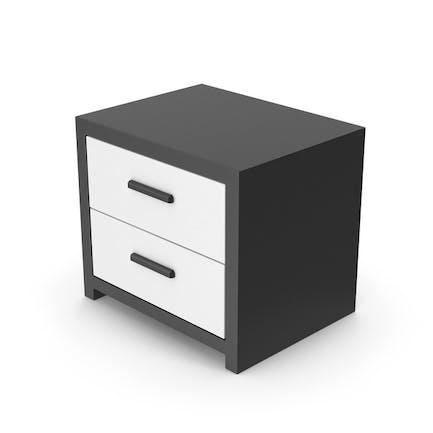 Bedroom Cabinet Black White