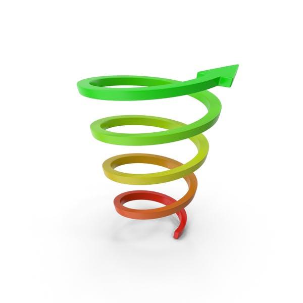 Abstract Arrow Riseup Spiral
