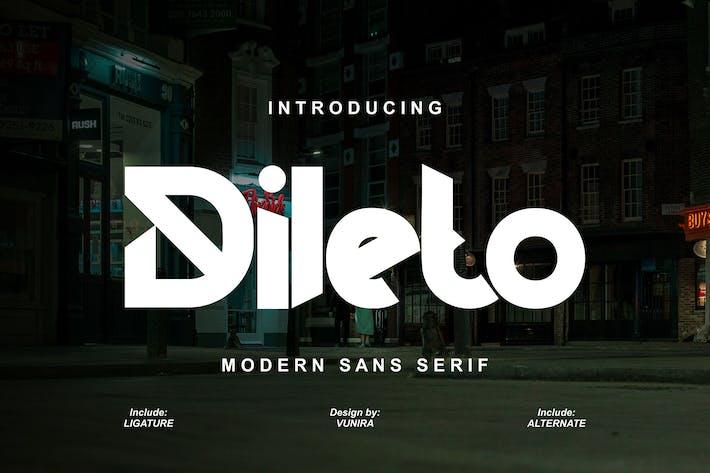 Dileto   Modern Sans Serif