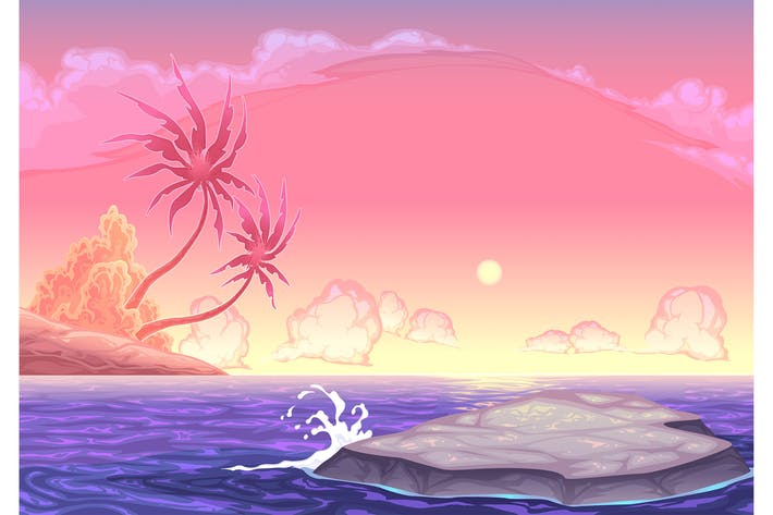Thumbnail for Romantic Seascape in the Sunset