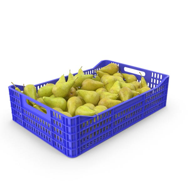 Pear in Plastic Crate