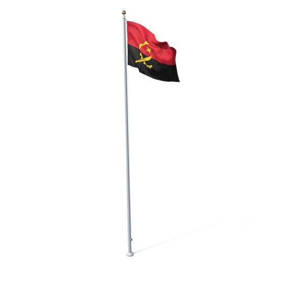 Fahne Auf Pole Angola
