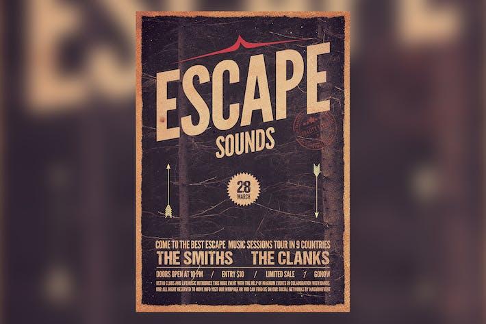 Thumbnail for Escape Sounds Flyer Poster