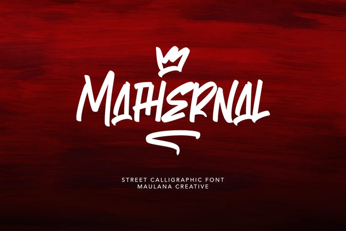 Thumbnail for Каллиграфический шрифт Mathernal Street