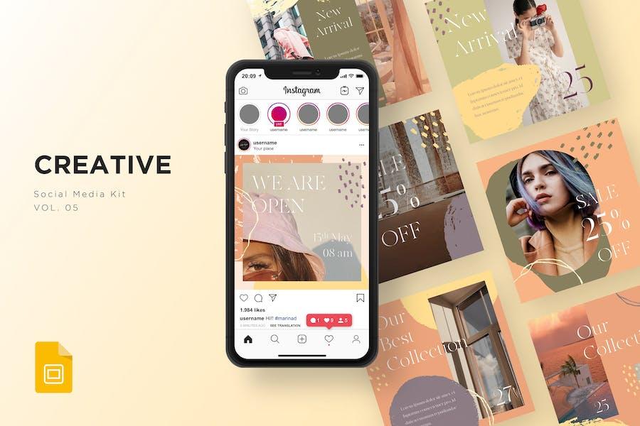 Creative Social Media Kit Vol. 05 - Google Slides
