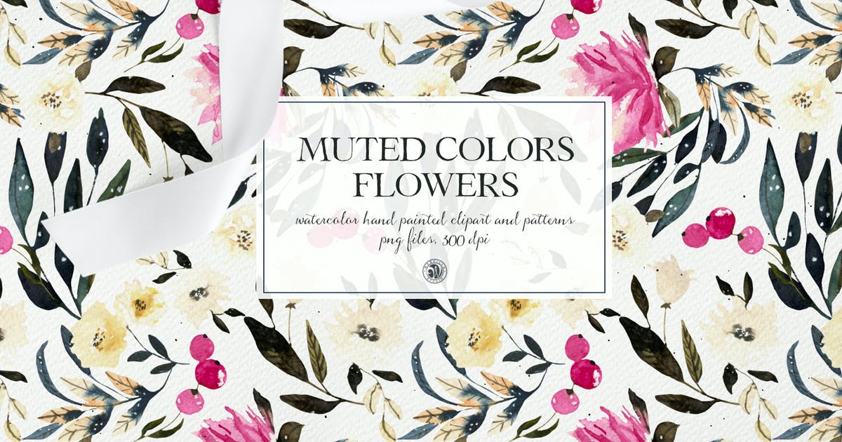 Download Muted Colors Flowers - watercolor clipart by Webvilla
