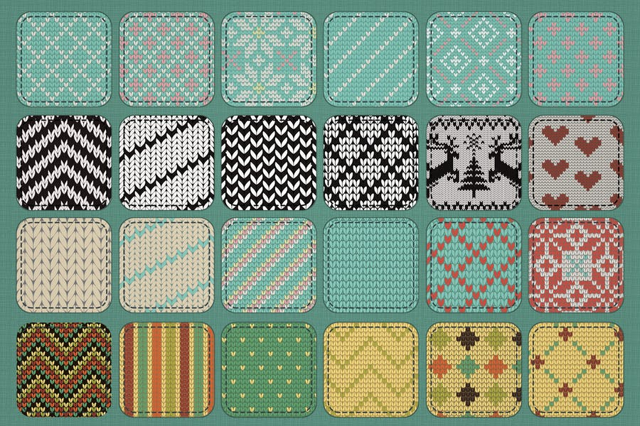 30 Seamless Knit Textures