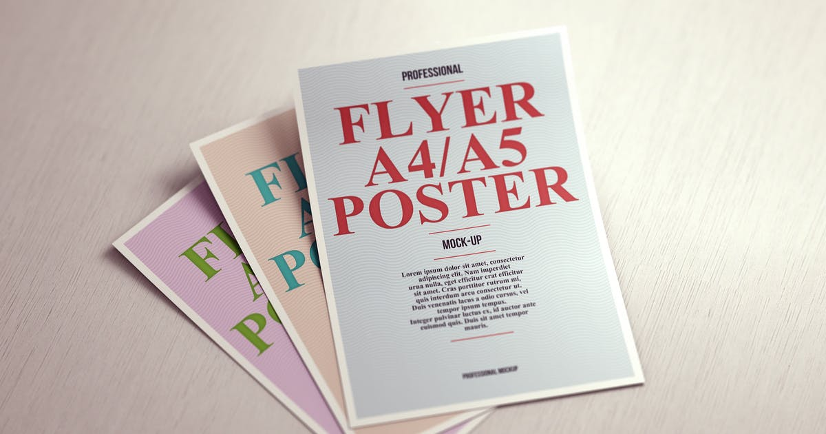 Download A4 / A5 Poster Flyer Mock-up by webandcat