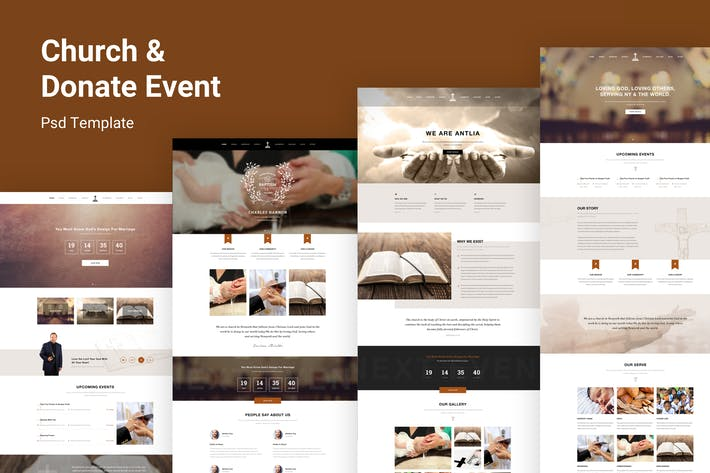 Thumbnail for Antlia - Church PSD Template