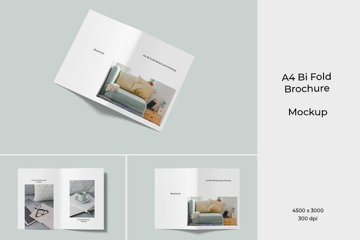 Thumbnail for A4 Bi Fold Broschüre Mockup