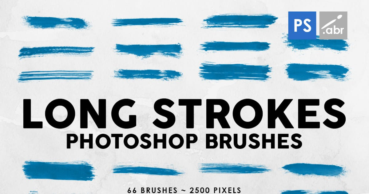 Download 66 Long Ink Strokes Photoshop Stamp Brushes by M-e-f