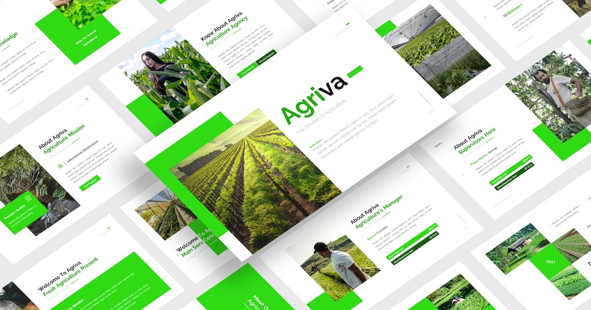 Download Agriva - Agriculture PowerPoint Template by CocoTemplates
