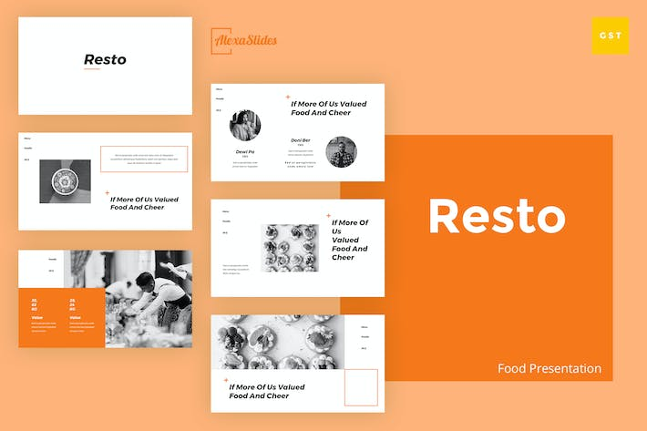 Thumbnail for Resto - Food Google Slides Template