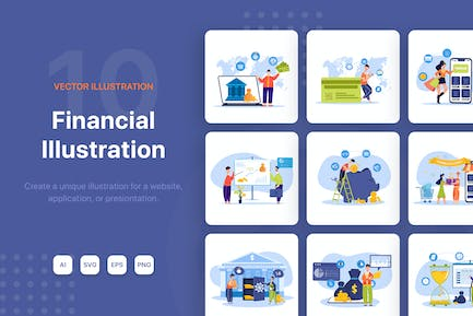 Financial Illustrations Pack