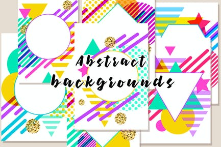 Modern Geometric Abstract Backgrounds