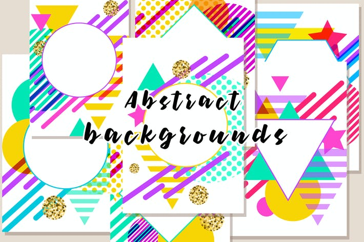 Thumbnail for Modern Geometric Abstract Backgrounds