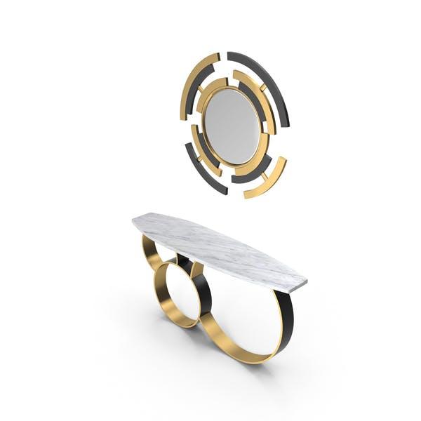 Pont Des Arts Designer Console & Mirror