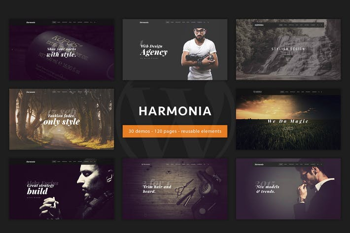 Thumbnail for Harmonia - Creative Multi-Purpose WordPress Theme