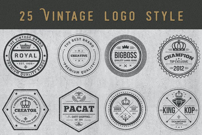 Thumbnail for Vintage Style Badges and Logos