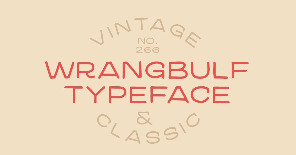Download Wrangbulf typeface by MartypeCo