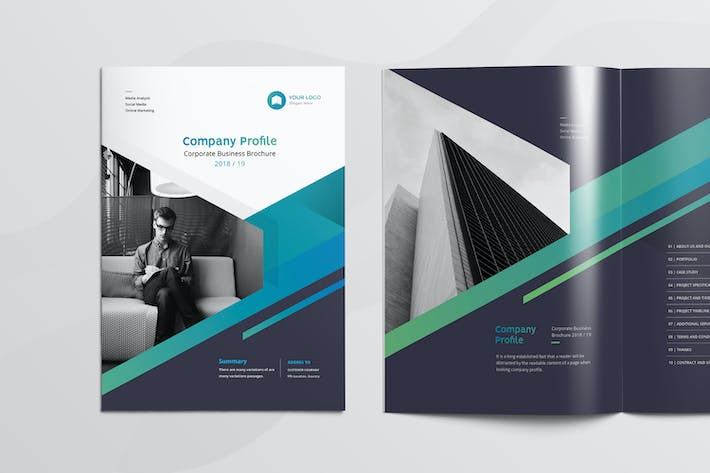 Thumbnail for Clean & Modern Multipurpose Brochure