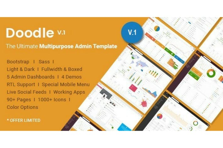 Cover Image For Doodle - The Ultimate Multipurpose Admin Template