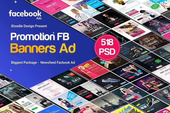Thumbnail for Promotion Facebook NewFeed Banner Ads - 518 PSD