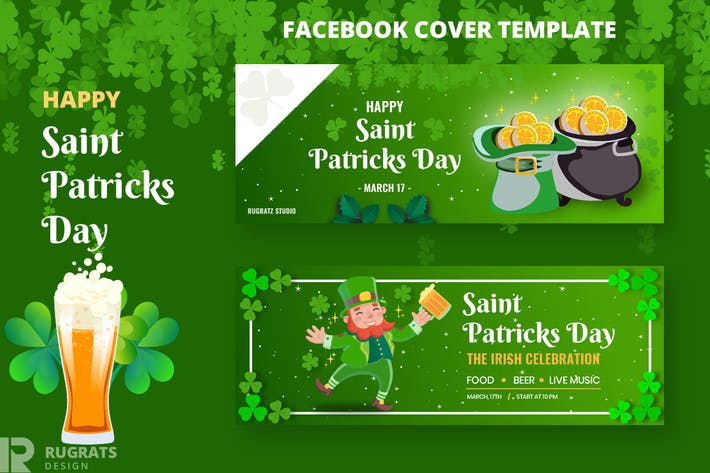 Thumbnail for Saint Patricks Day R1 Facebook Cover Template