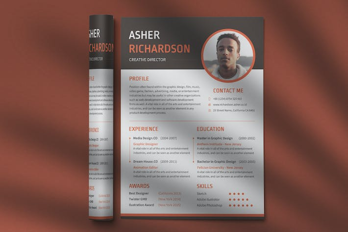 Thumbnail for CV Resume Professional Template Vol. 19