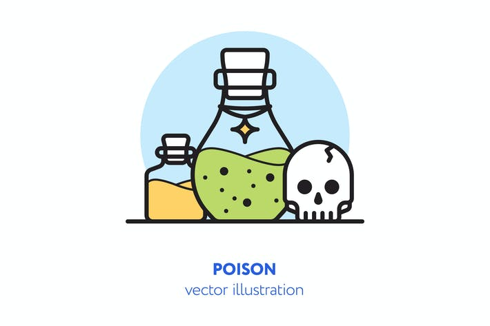 Thumbnail for Poison vector illustration